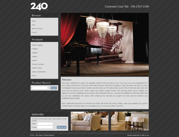 240 Limited revamps Furnishings website