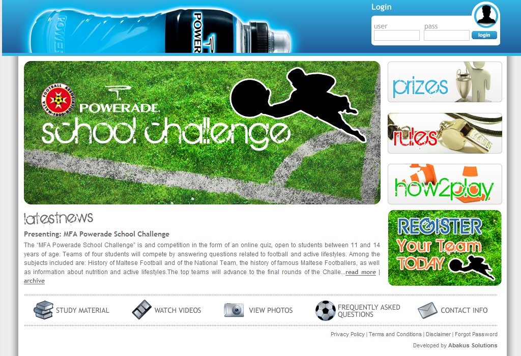 MFA Powerade School Challenge