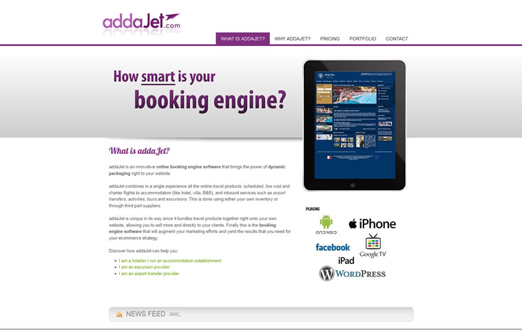 Face lift to Addajet website