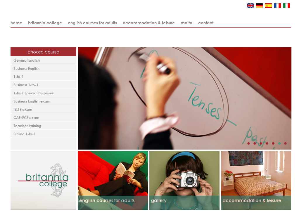 Britannia College website to address worldwide market
