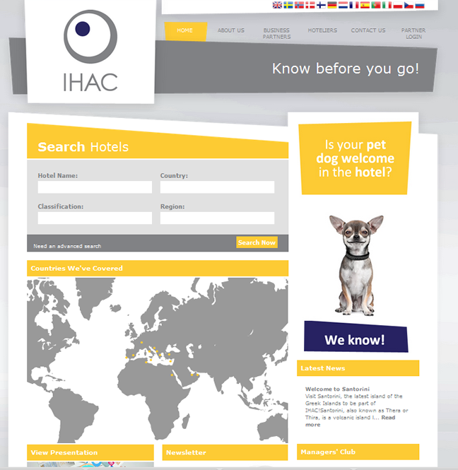 New design for Ihac.eu