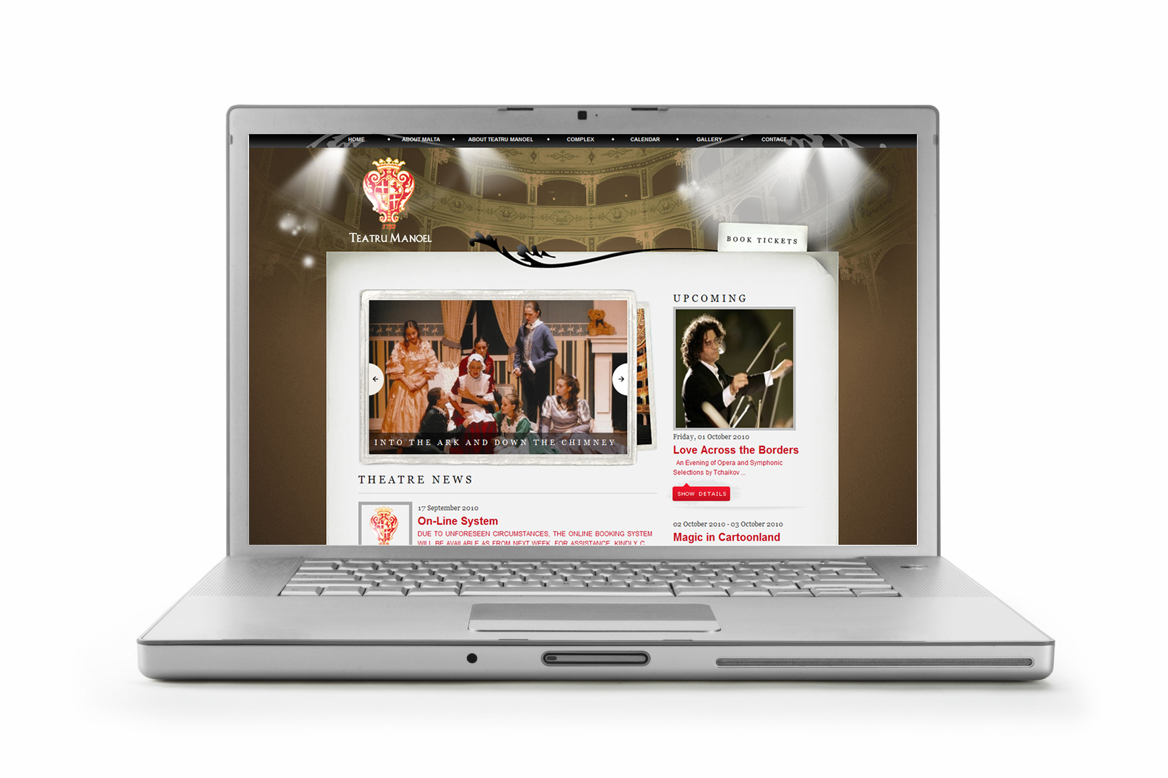Fresh new look for Teatru Manoel website