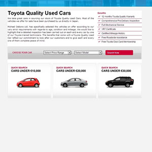 Toyota Used Cars Application