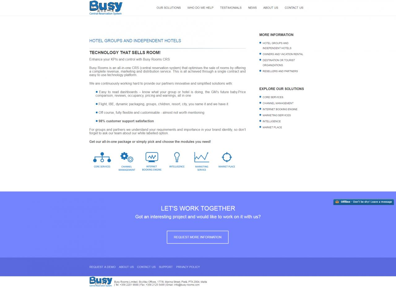 Busy Rooms - Internal Page