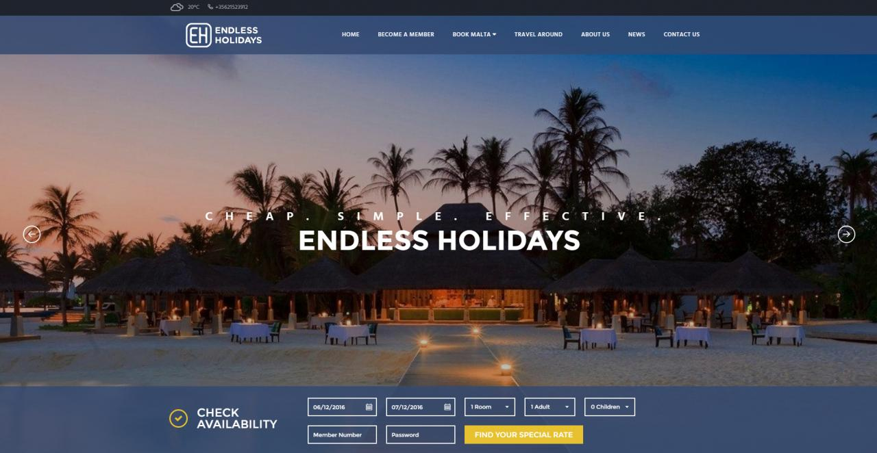 Endless Holidays - Home Page