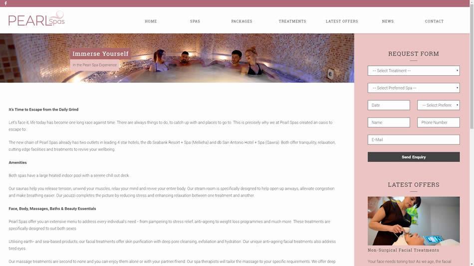 Pearl Spas - Inner Page