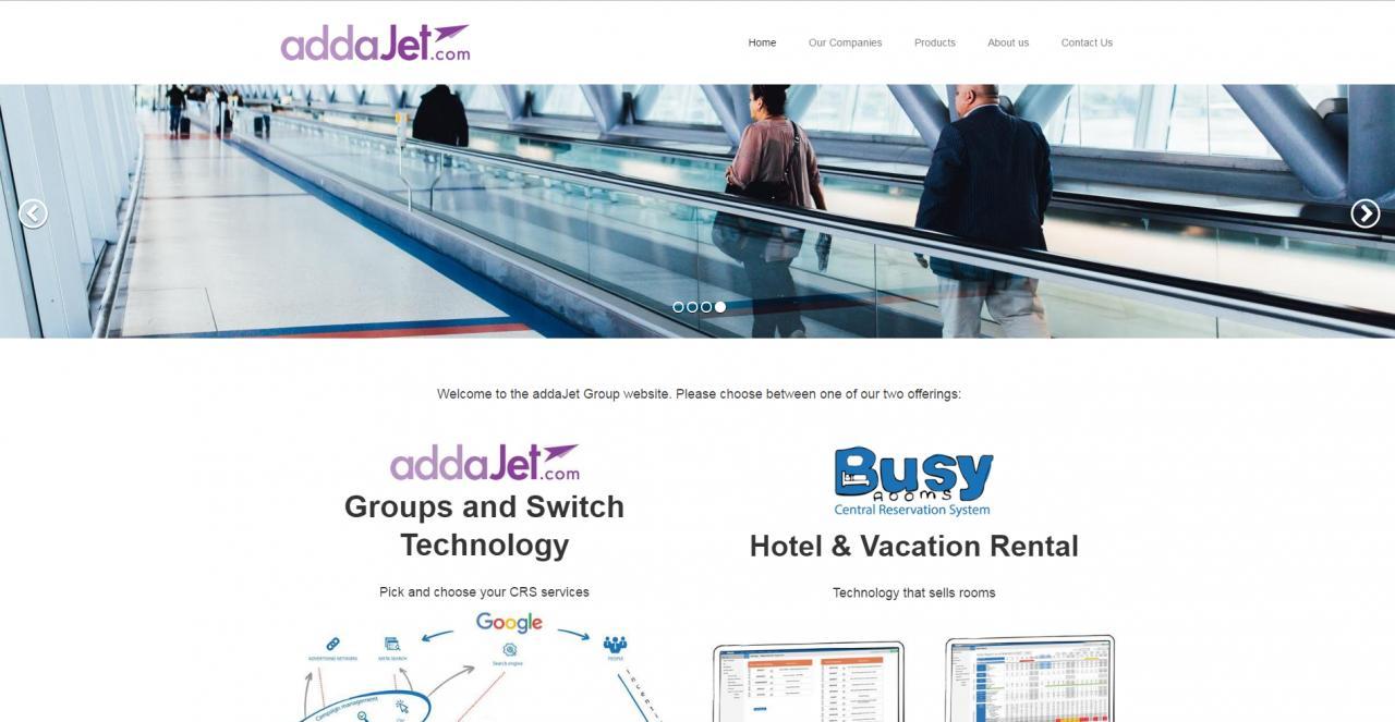 addaJet - One Page Website