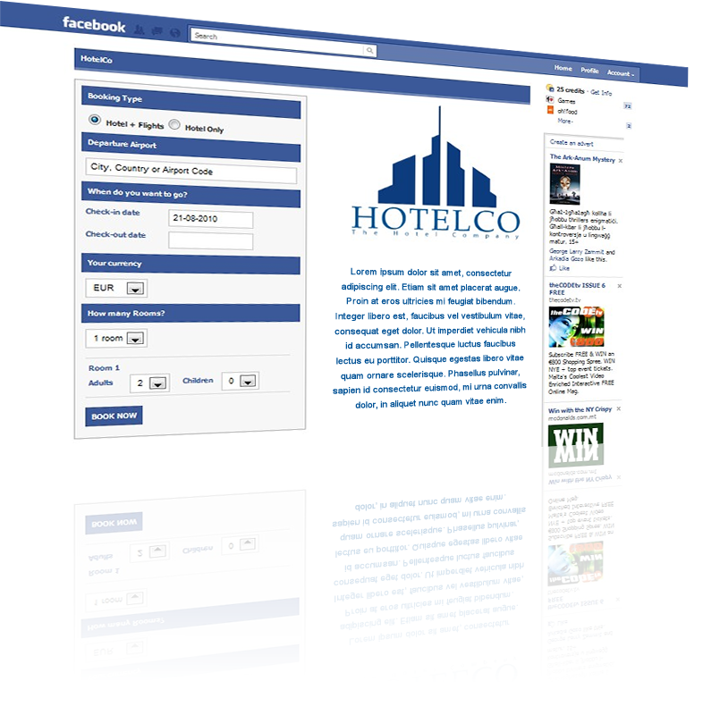 facebook app for holiday booking launched at world travel market booking co online travel. Black Bedroom Furniture Sets. Home Design Ideas