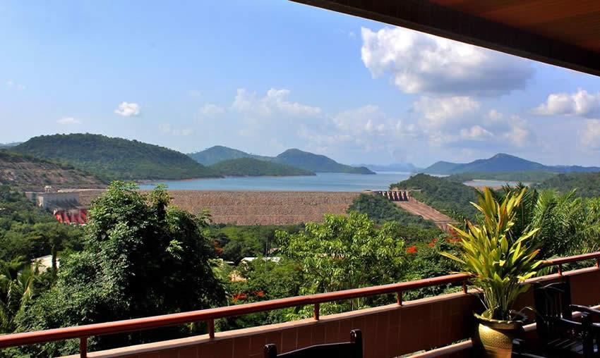 Volta Hotel View of Akosombo dam