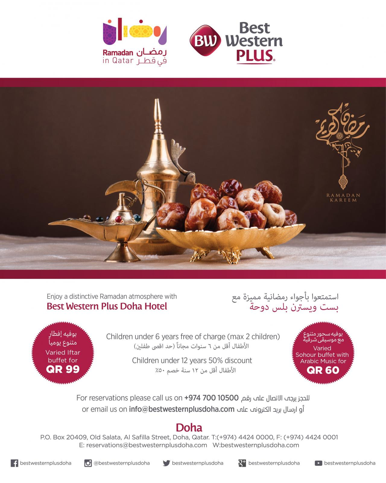 Welcome to the BEST WESTERN PLUS Doha