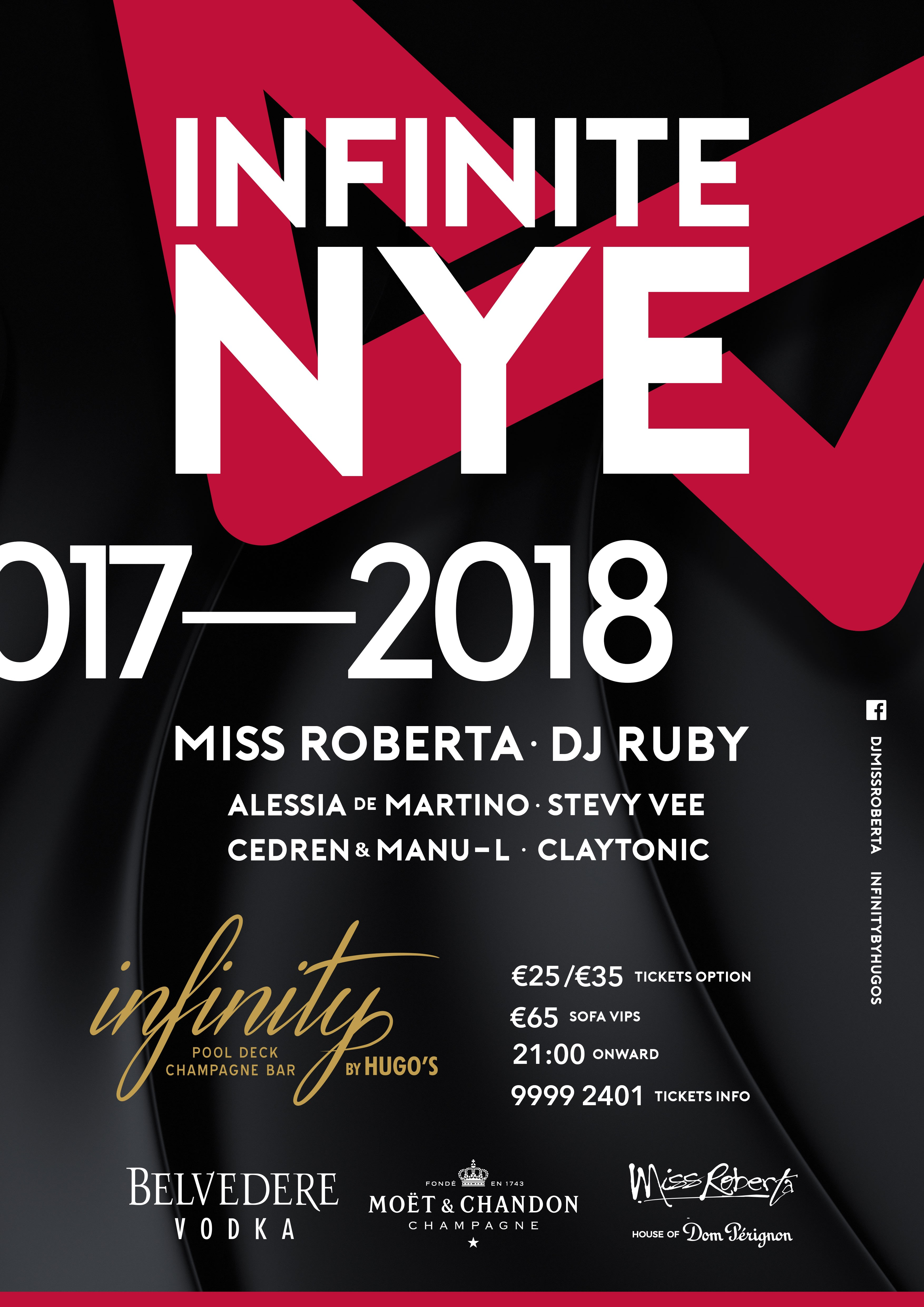 New Year's Eve Party 2017 at INFINITY Pool Lounge & Champagne Lounge