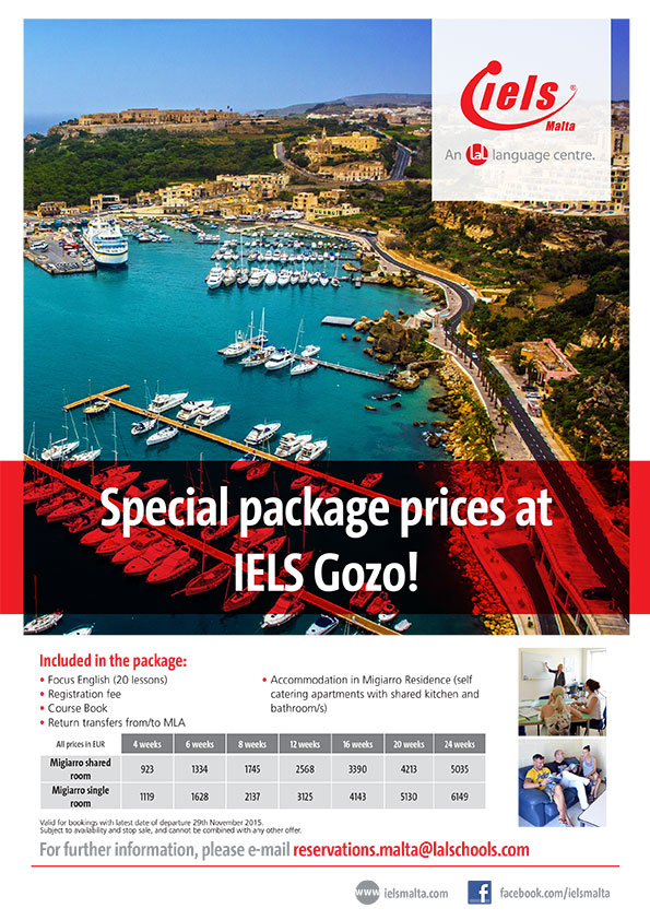 Special Package Prices at IELS Gozo