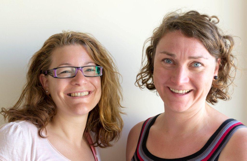 Claudia Sinnerbrink and Bridget Weber