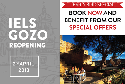 Early Bird Special - Limited Time Offers to Celebrate the Reopening of IELS Gozo