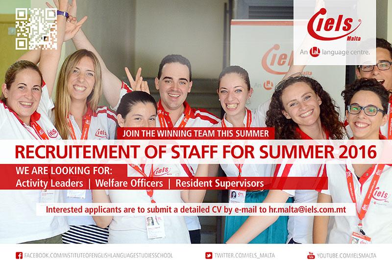 IELS Summer Recruitement 2016
