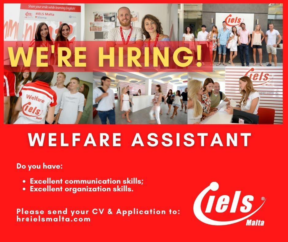 Job Advert - Welfare Assistant