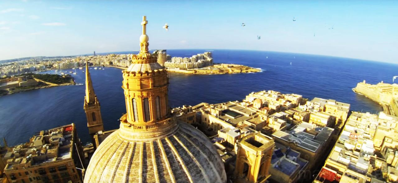 A tour of Malta - from above!