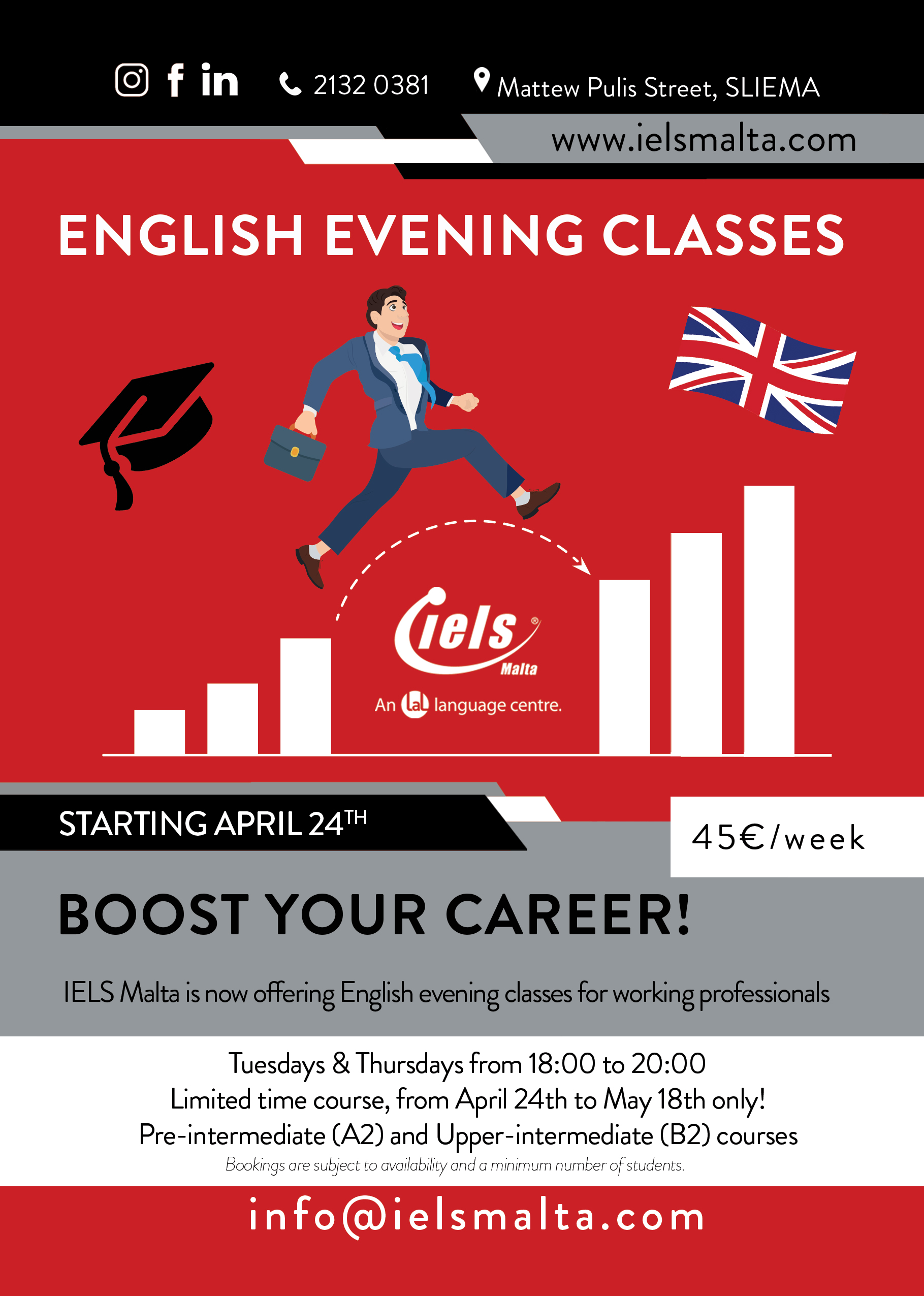 English Evening Classes IELS Malta