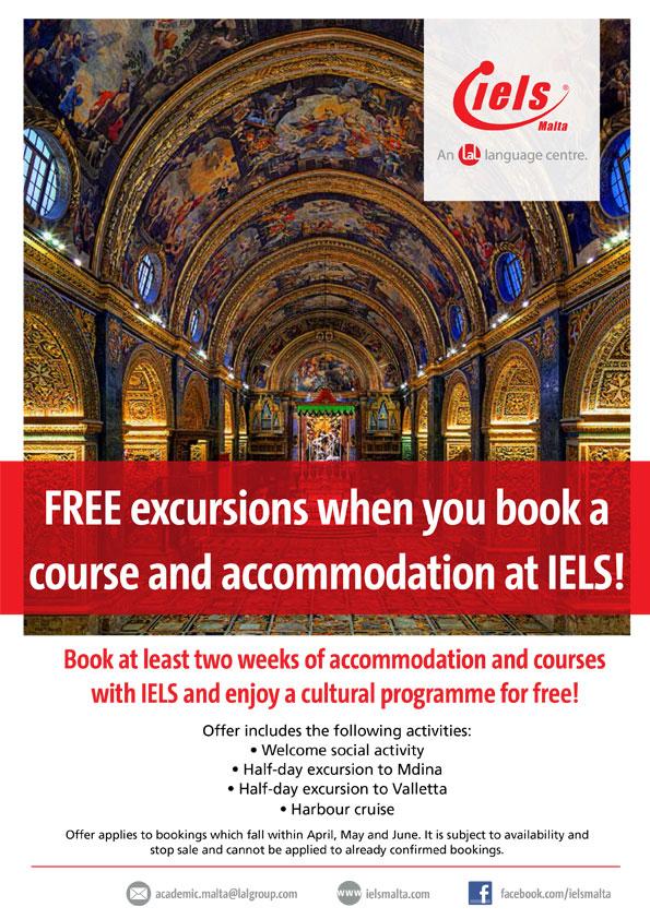 FREE Cultural programme at IELS Malta!