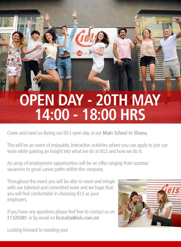 IELS Open Day - 20th May