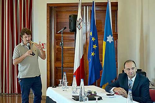 Mr Davide Carlucci, Mayor of Acquaviva Delle Fonti