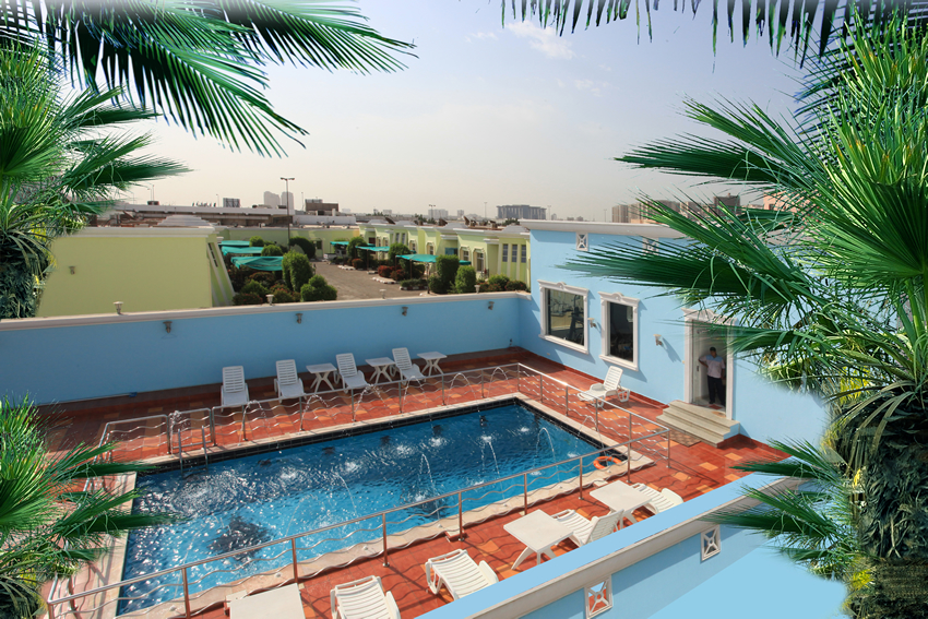Rose Inn Al Waha Hotel - Jeddah - Swimming Pool