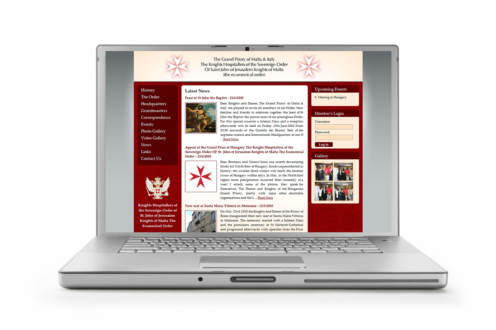 Knights Hospitallers of St. John launch new website
