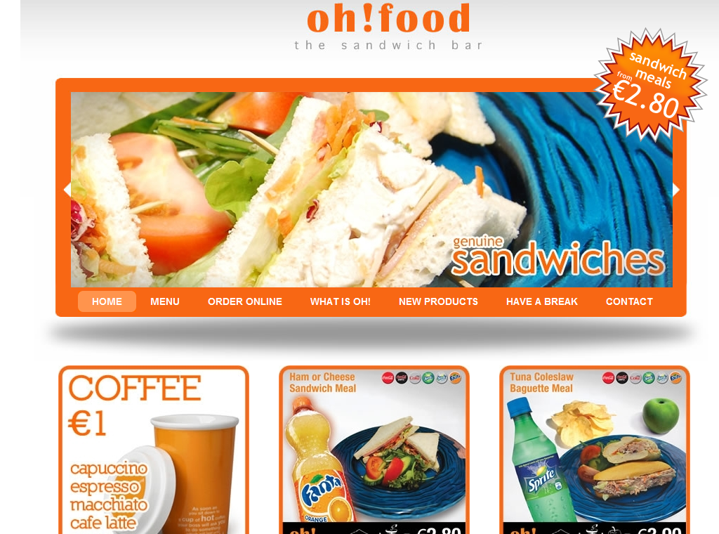 Website for oh!food launched