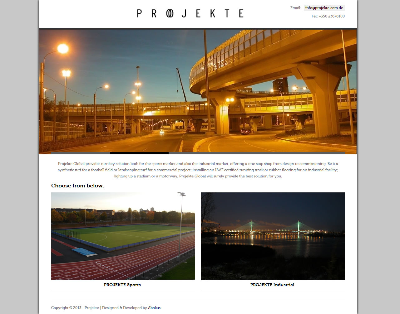 Projekte Global launch new online presence