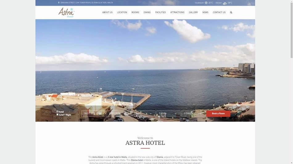 Astra Hotel - Home Page