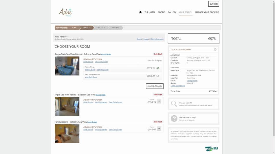 Astra Hotel - Search Results