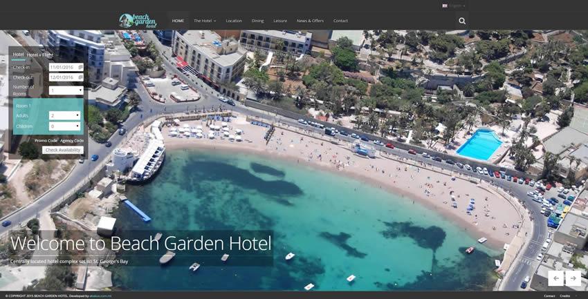 Beach Garden Hotel Home Page
