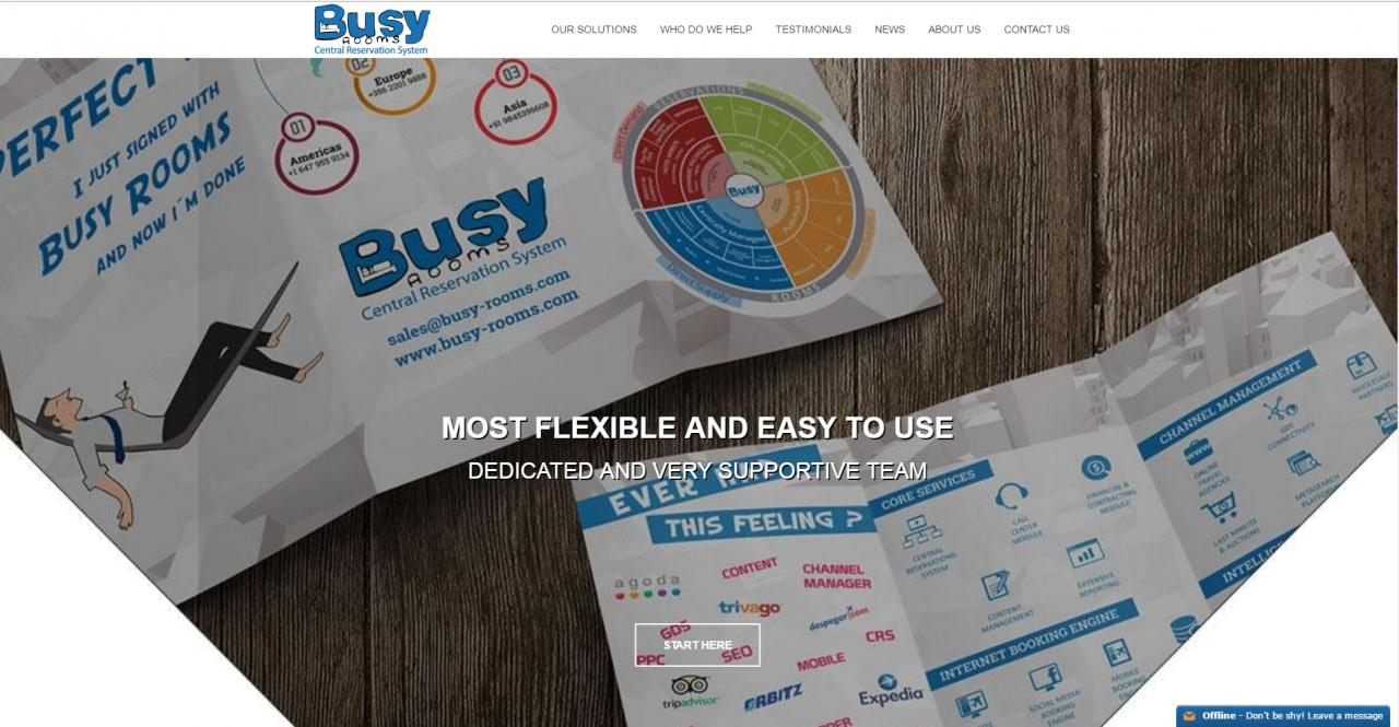 Busy Rooms - Home Page