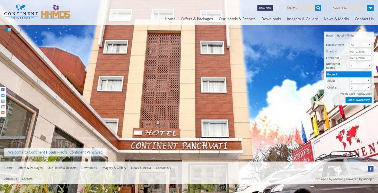 Continent Hotels - Home Page