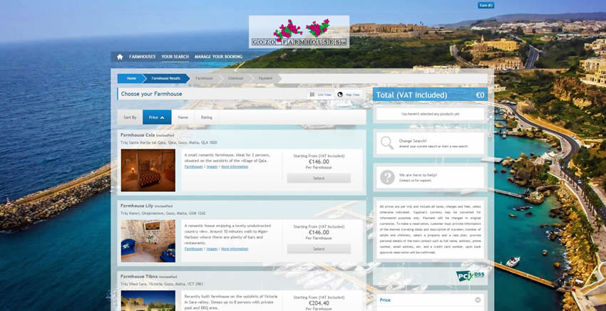 Gozo Farmhouses - Search Results Page