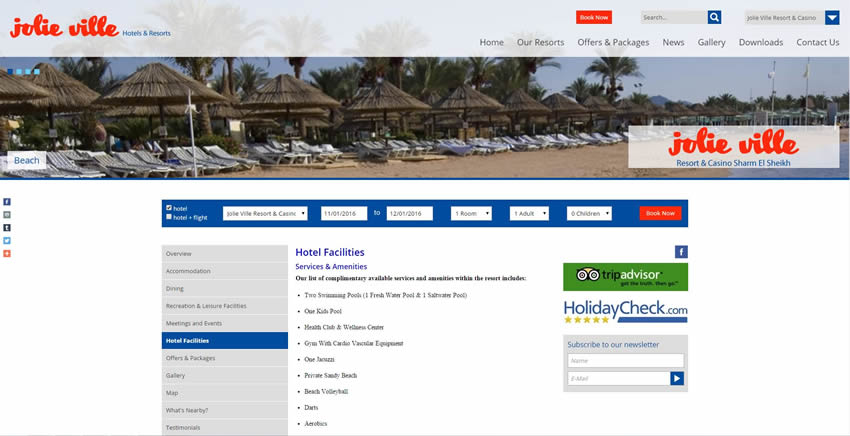 Jolie Ville Sharm Resorts - Inner Pages