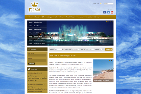 Princess Egypt Hotels - Home Page