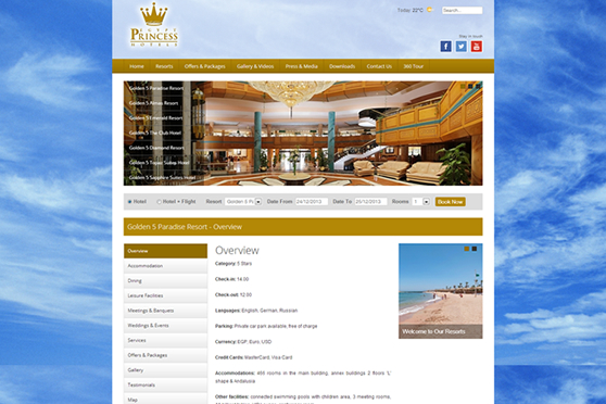 Princess Egypt Hotels - Inner Page
