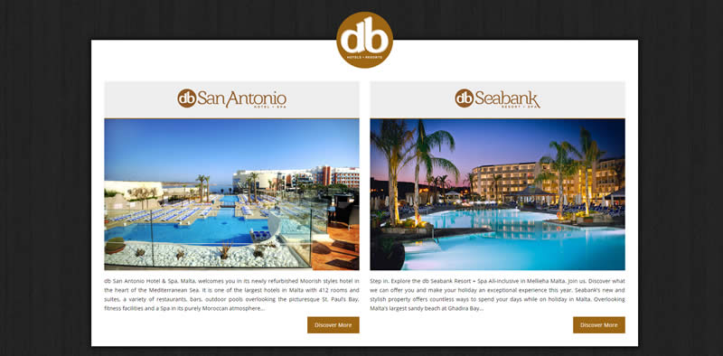 db Hotels & Resorts - Corporate Website