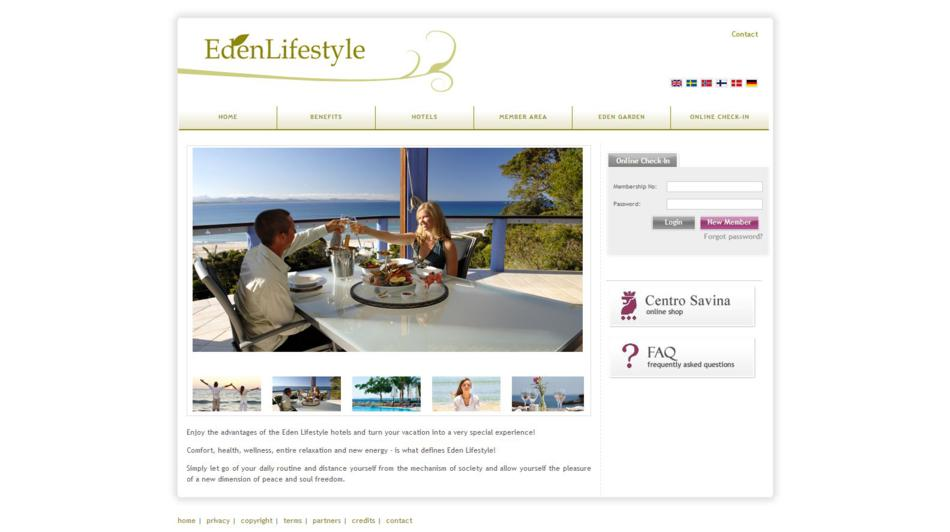 Eden Lifestyle - Home Page