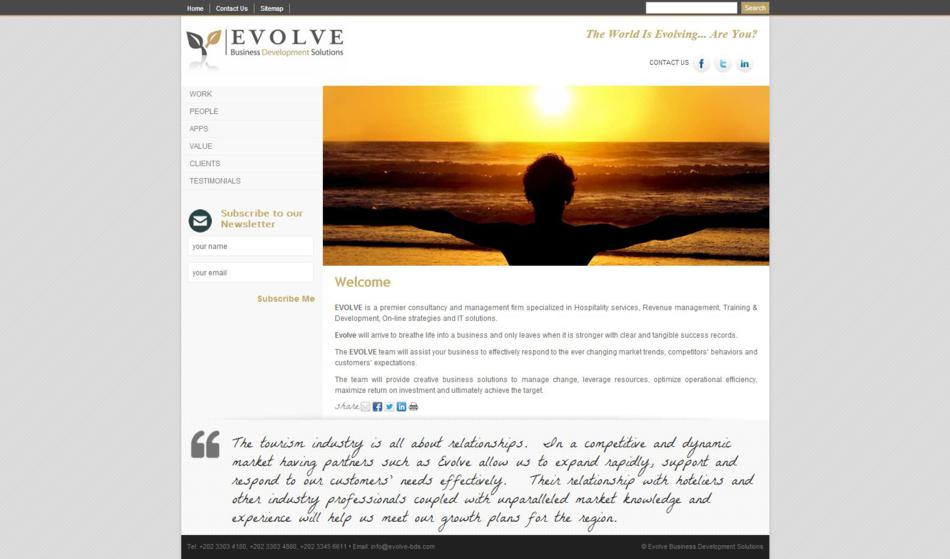 Evolve Business Development - Home Page