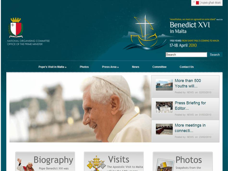 Papal Visit - Home Page