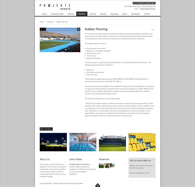Projekte Sports - Products Individual Page