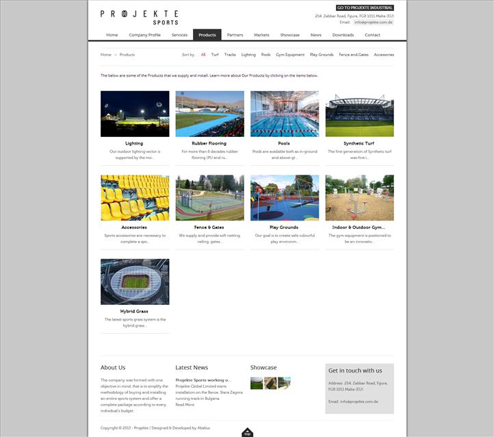 Projekte Sports - Products