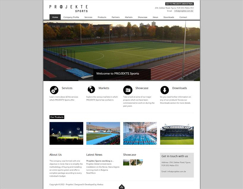 Projekte Sports - Home Page