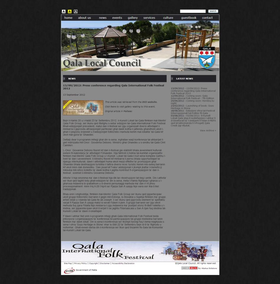 Qala Local Council - News Page