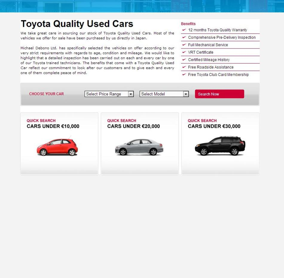 Toyota Used Cars - Home Page