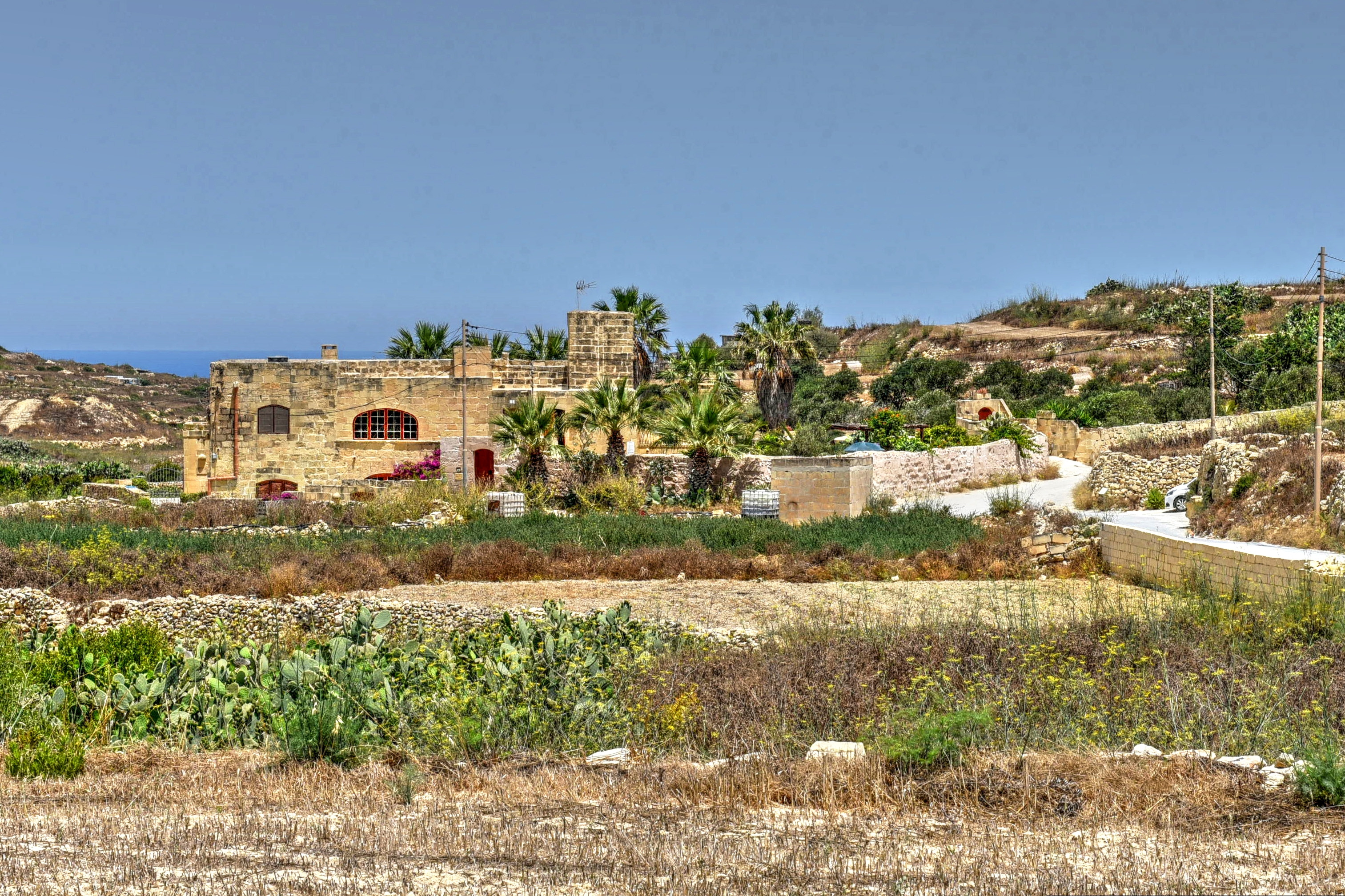 Farmhouse Palma from a distance