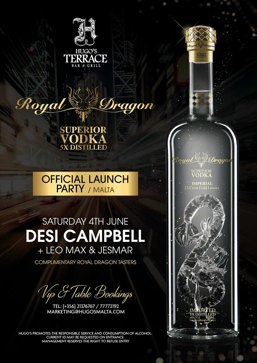 Hugo's terrace Bar & Grill - Royal Dragon Vodka Official Launch