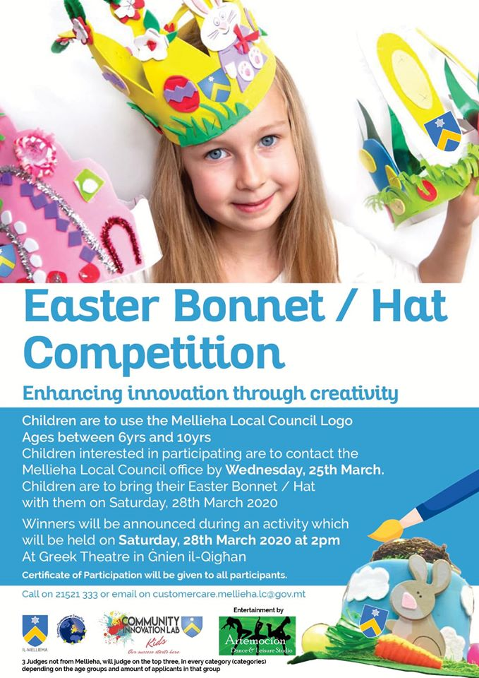 Easter Bonnett / Hat Competition